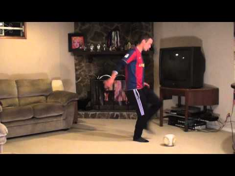 At Home Soccer Skills and Drills: Exercise #4 - L Cut to Toe Turn