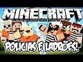 POLICIAS E LADRÕES c/ TORNADOS! - Minecraft