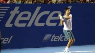Djokovic se divierte en el AMT2017