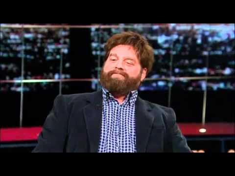 OMG! DRAGONS!!! Zach Galifianakis Lights up a Joint on Real Time with Bill Maher