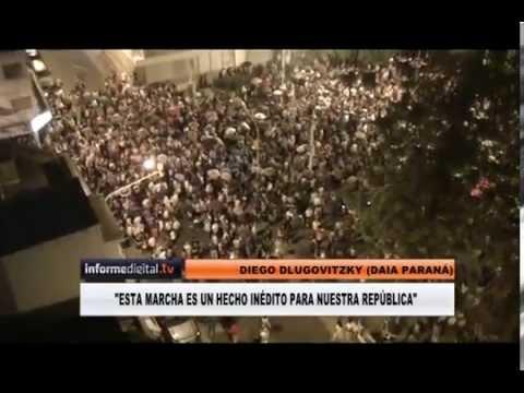 <b>Paran�. </b>Marcha del silencio en memoria de Alberto Nisman.