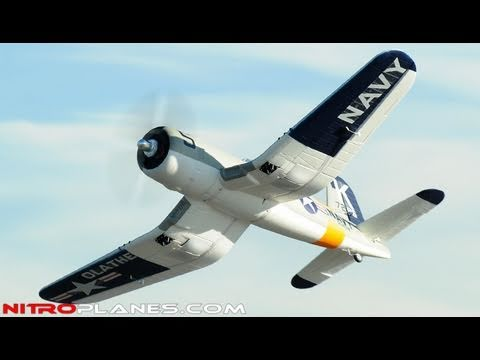 New Airfield 1430MM F4U Corsair 2.4Ghz Brushless Warbird w/ Retracts Review