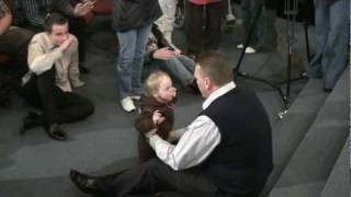 Deaf and paralyzed baby healed