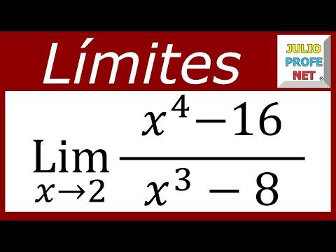 Limite solucionado mediante factorización