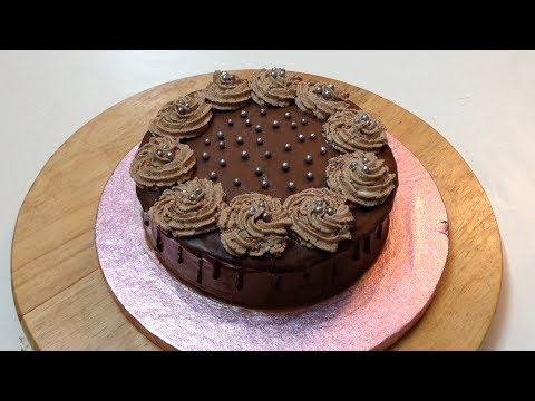Chocolate Birthday Cake Without Oven - Rich & Moist Chocolate Cake from Scratch || Cooking Passion