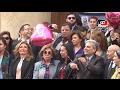 «نصار» يقود مسيرة لدعم المرأة العربية بجامعة القاهرة