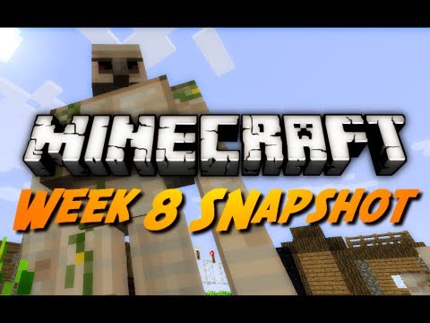 Minecraft Snapshots - 12w08a - Iron Golems, Upside-Down Stairs & More!