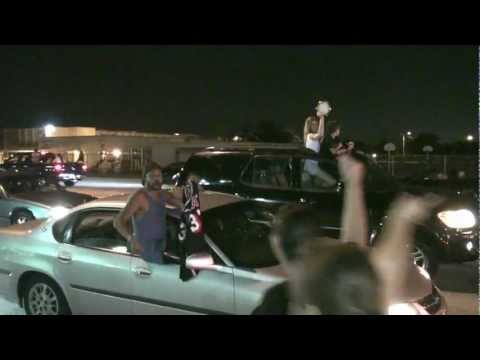 MIAMI HEAT WINS 2012 NBA CHAMPIONSHIP PEOPLE AT BIRD ROAD STREET  PARTY PART 1/3