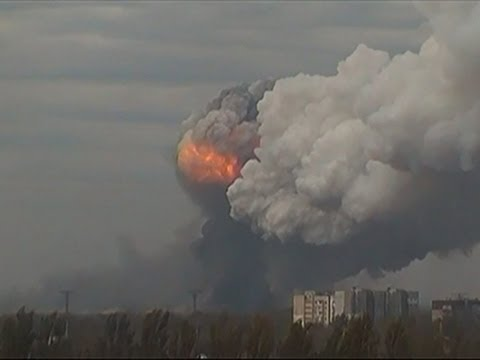 Raw: Powerful Blast Rocks Ukrainian City