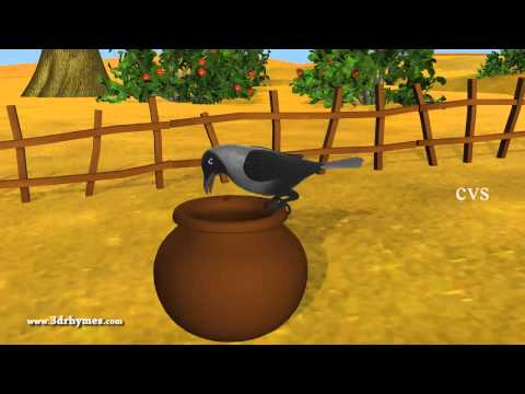 Ek Kauva Pyaasa tha Poem - 3D Animation Hindi Nursery Rhymes for Children with Lyrics