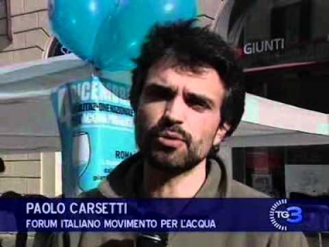 Tg3 del 04/12/2010, manifestazione acqua pubblica