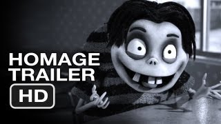 Frankenweenie Homage Trailer (2012) Tim Burton Animated Movie HD