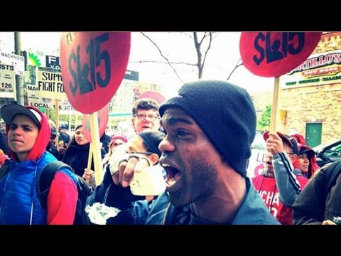 Largest Fast Food Workers Strike, Is Unionization Next? (Minimum Wage)