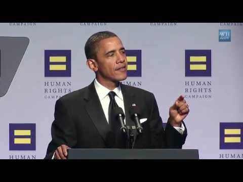 President Obama Speaks at Human Rights Campaign Dinner