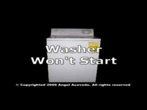GE front serviceable washer not starting