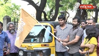 'Iraivi' Team Karthik Subbaraj and Bobby Simha flags off Auto Promotions Kollywood News 24-05-2016 online 'Iraivi' Team Karthik Subbaraj and Bobby Simha flags off Auto Promotions Red Pix TV Kollywood News