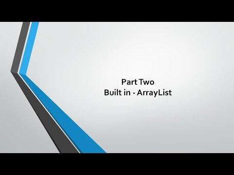 Data Structures - 9 Built in ArrayList Applications