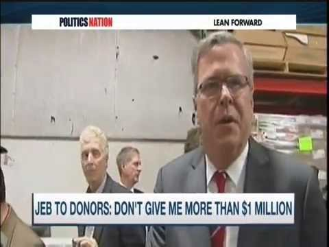MSNBC Dr Jason Johnson on Jeb Bush $1M Request 3/5/15