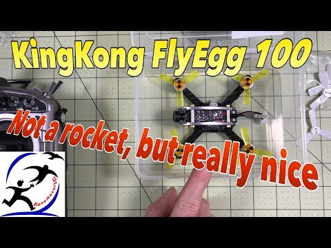 KingKong Fly Egg 100 Unboxing and First Flights, A really good first racing drone option - UCzuKp01-3GrlkohHo664aoA