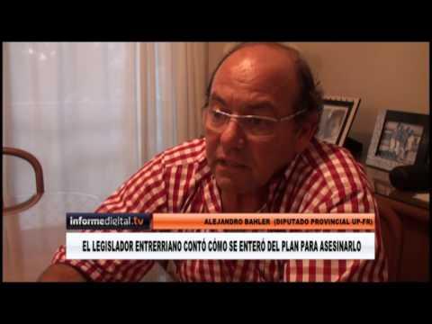 <b>Sicarios.</b> Alejandro Bahler habló del plan para asesinarlo