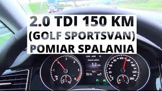 Volkswagen Golf Sportsvan 2.0 TDI 150 KM - pomiar spalania