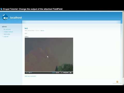 Drupal Tutorial - Attach Video to Nodes