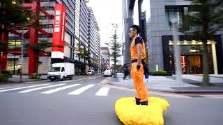 台北街頭出現騎觔斗雲的孤悟空,他竟然還載著墨鏡!