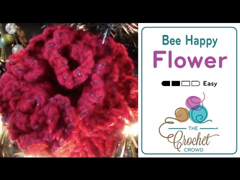 Howto Crochet Bee Happy Flower