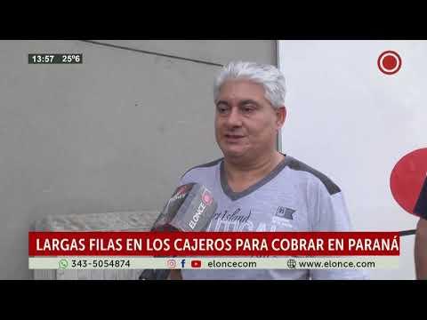 uarentena: siguen largas colas en los cajeros automáticos