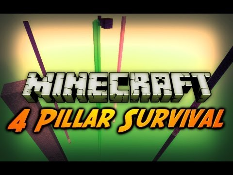 "Minecraft: ""I'm On Fire!"" - 4 Pillar Survival w/ CavemanFilms - Ep. 2"
