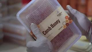 <span>Proses Packing Comb Honey Kembang Joyo</span>