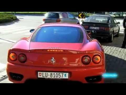 Emigrante suiço com Ferrari 360 Modena nas ruas de Viana do Castelo (part 2)