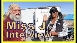 Miss J Living in a Cargo Trailer:  Interview