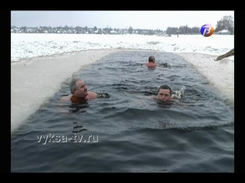 Праздничный заплыв устроили выксунские моржи