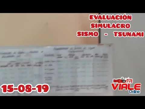 EVALUACION DE SIMULACRO SISMO Y TSUNAMI