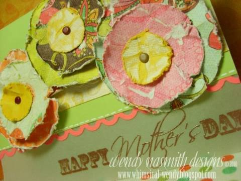 Card Tutorial - Mother-s Day (Shabby Chic Flowers)