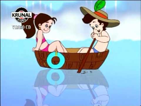 Nursery Rhymes - Row Row Row Your Boat - Krunal Videos