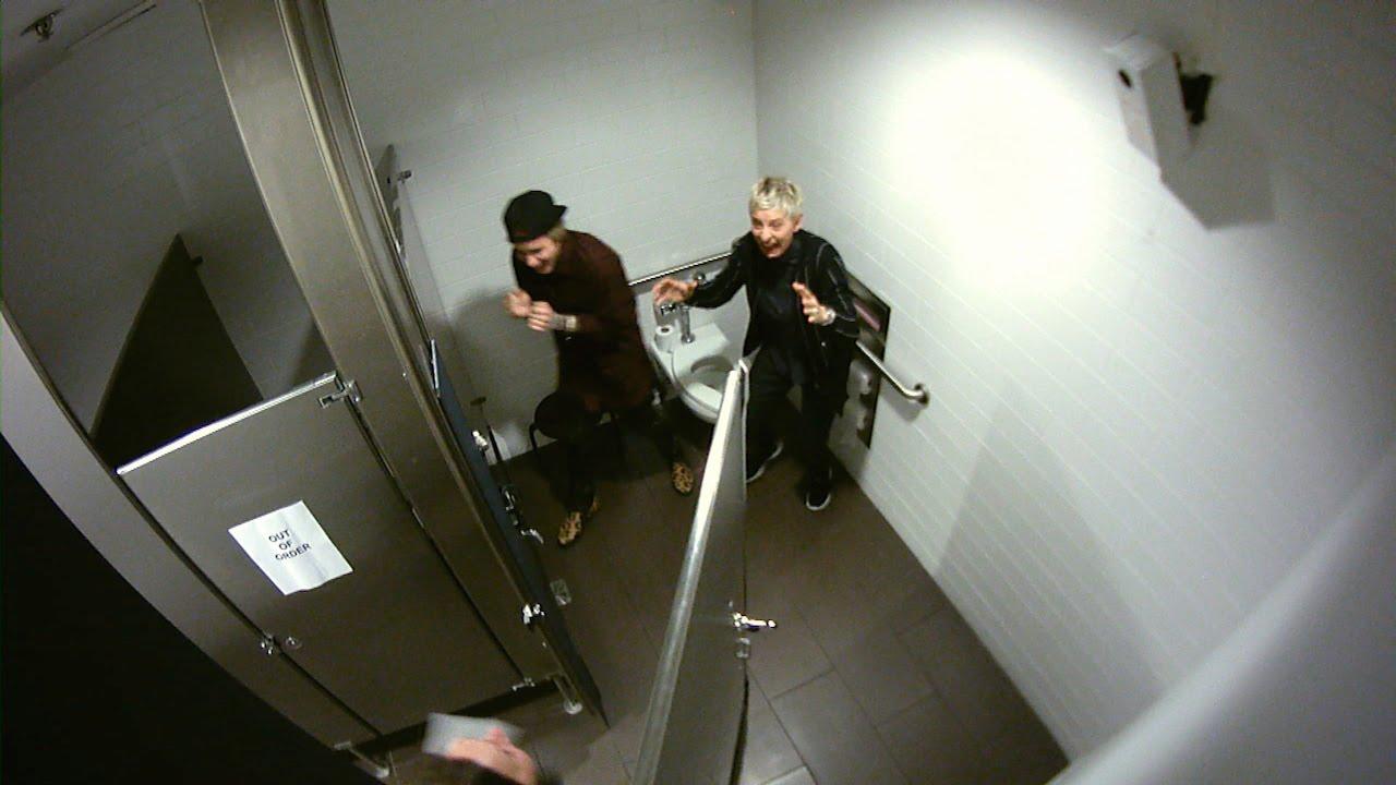 Justin Bieber and Ellen Scare Audience Members
