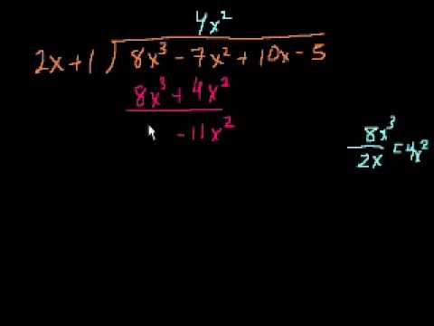 Divisione Algebrica Lunga