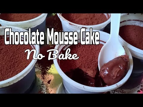 Chocolate Mousse Cake No Bake Recipe | How to Make Eggless Chocolate Mousse