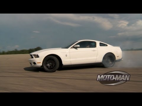 MotoMan - Vaughn Gittin Jr Teaches MotoMan How To Drift A Mustang
