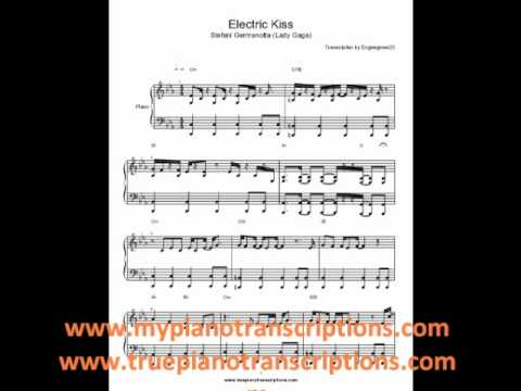 Electric Kiss Lady Gaga Sheet Music