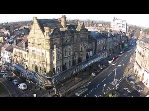Harrogate, England, Spa Town, Tea, Drone