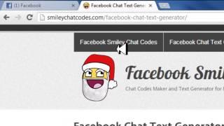Como Hacer Emoticones Para El Chat De Facebook HD 2013 Loquendo