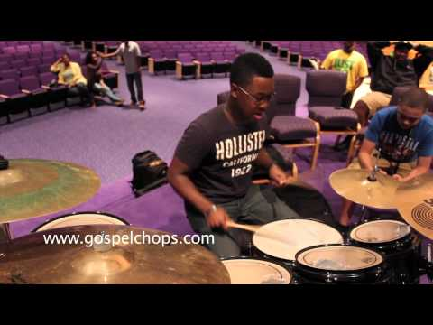 Drums - Milwaukee Drummers Shed Session @ GospelChops.com - Drum Solo