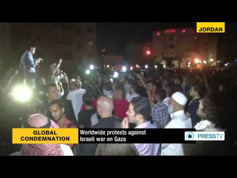 International protesters want end to Israeli attacks on (Gaza) Strip  7/19/14