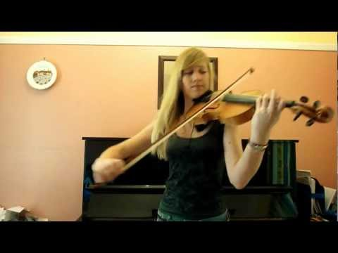 Lara plays the -Halo- theme on violin