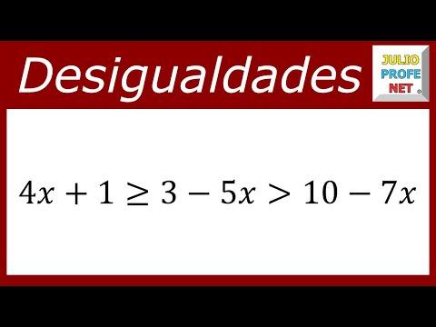 Solución de una desigualdad lineal con tres componentes