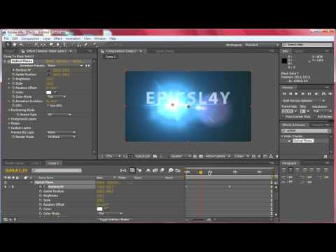 Animate Optical Flares and Basic Keyframing