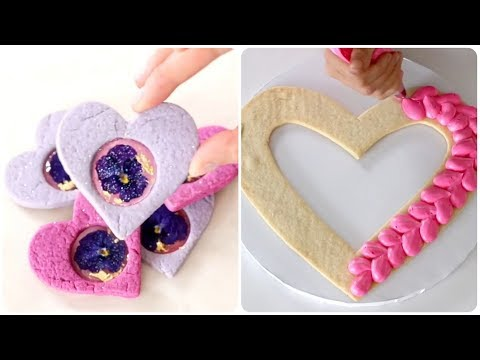 Heart sugar cookies💖DIY Valentine's Day Cakes #2💖Easy Dessert Recipes 💖 So Yummy Cake Decorating